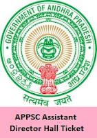 APPSC Assistant Director Hall Ticket