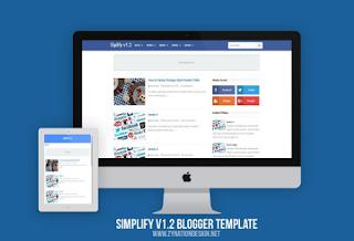 Symplify versão 1.2 premium blogger template fastest loading SEO