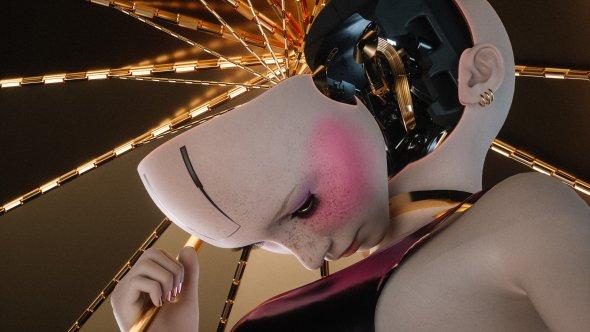 Mark Chang artstation artes conceituais modelos 3d ilustrações ficção científica sombria robôs cyberpunk futurista