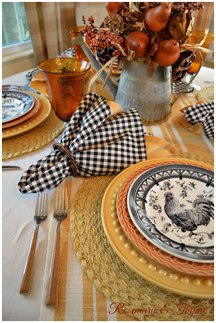 A french country fall tablescape for Tablescape decor