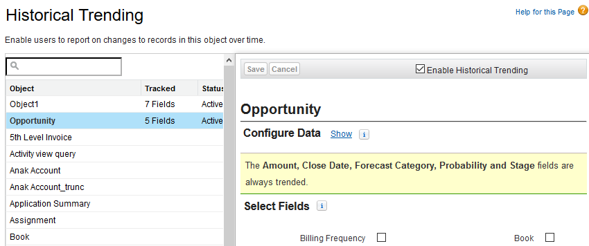 SimplySfdc com: Salesforce: Opportunity Tracking, Historical and