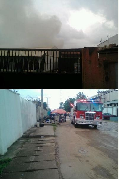 Massive Loss for MTN as Warehouse in Lagos is Razed by Fire (Photos)