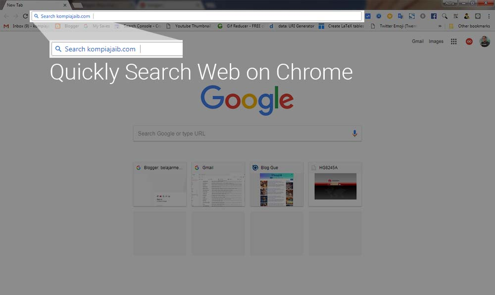 Cara Memunculkan Quickly Search Blog Pada Browser Chrome