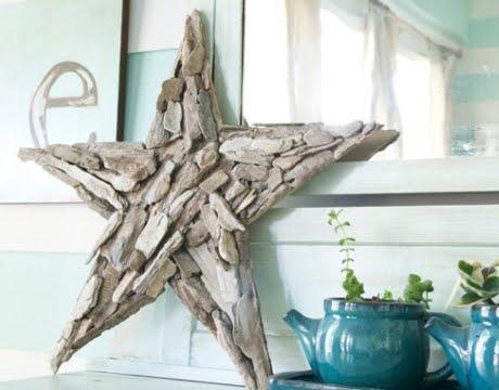 handmade driftwood star