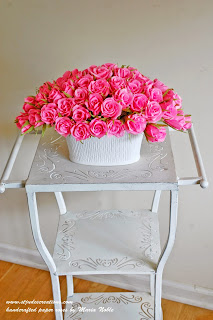 paper roses arrangement