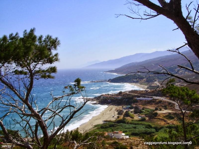 Le spiagge di Armenisti, a Ikaria