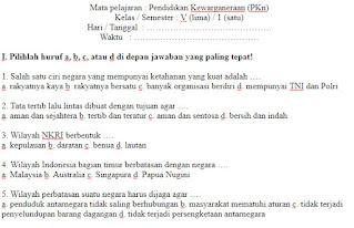 Soal-UAS-UKK-PKN-Kelas-5-SD-Semester-1