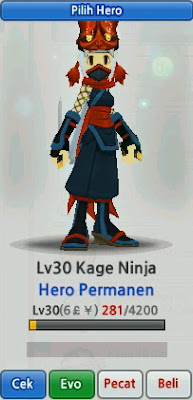 Kage Ninja Hero Evolution Lost Saga Indonesia