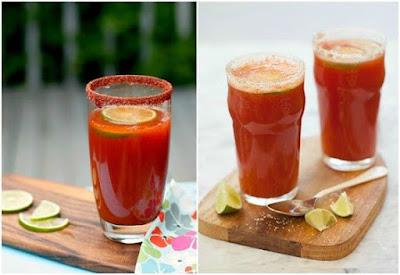 hình ảnh cocktail michelada sắc đỏ