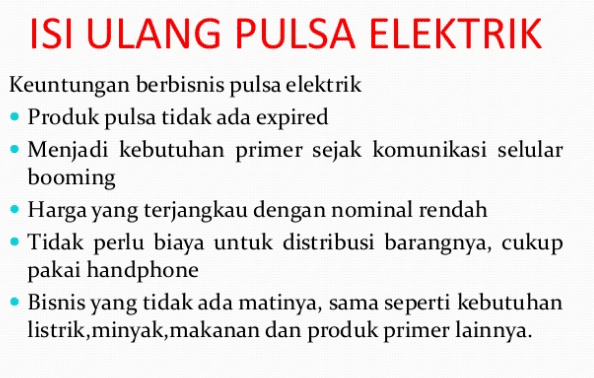 Bisnis Pulsa Elektrik, Seminggu Modal Sudah Balik
