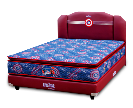 Harga Spring Bed Bigland Captain America Pillowtop di Purwokerto