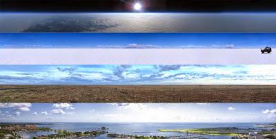 La platitude de la Terre est bien visible