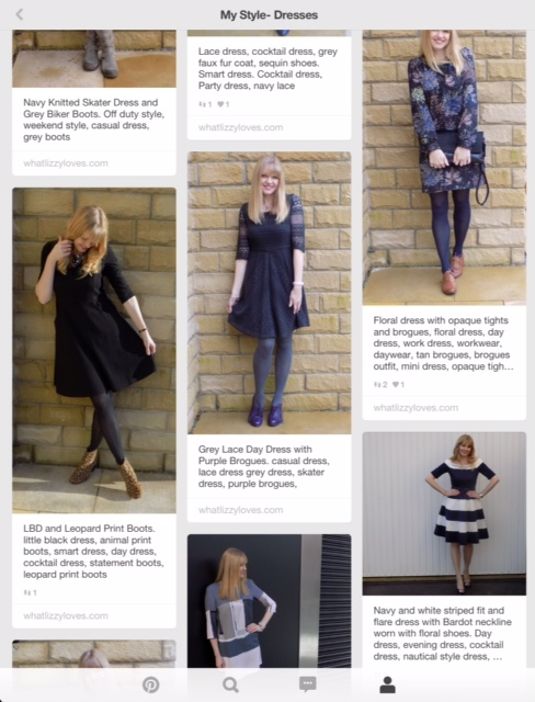 How to describe dresses on Pinterest