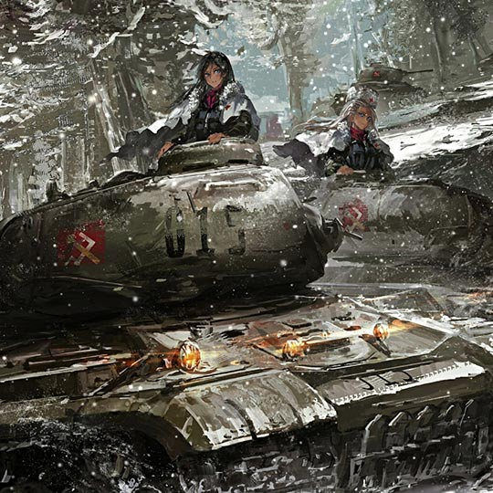 Girls und Panzer Snowing Wallpaper Engine