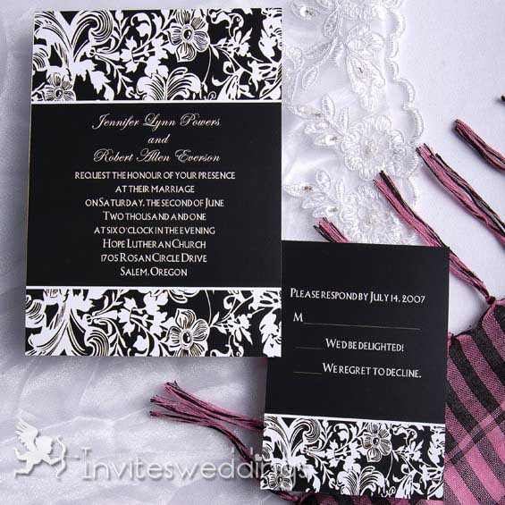 Black Wedding Invitations 120
