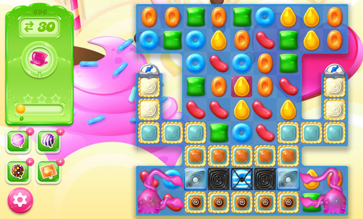 Candy Crush Jelly Saga level 696