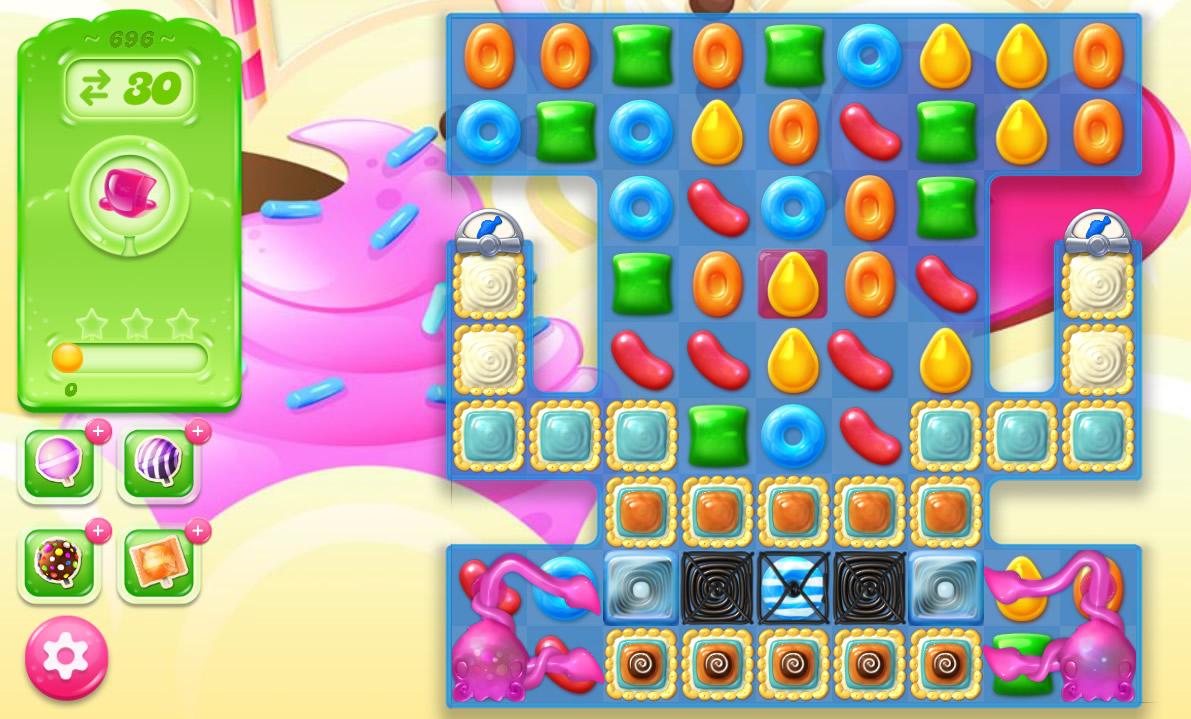 Candy Crush Jelly Saga level 696