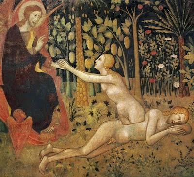 God creates Eve from Adam's rib