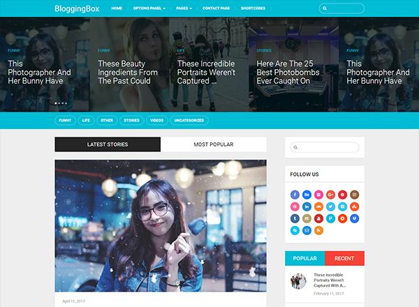 BloggingBox Blogging WordPress Theme