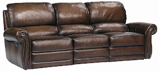 bernhardt-brown-leather-sofa