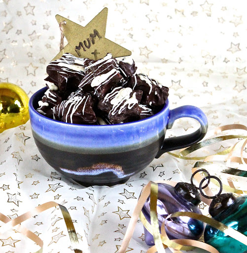 Chocolate Decoration Almond Flakes Cake