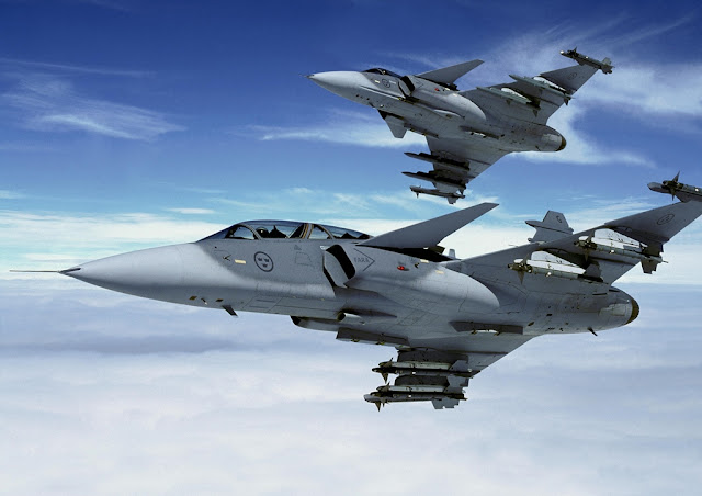 SWEDISH GRIPEN AT JOINT WARRIOR EXERCISE