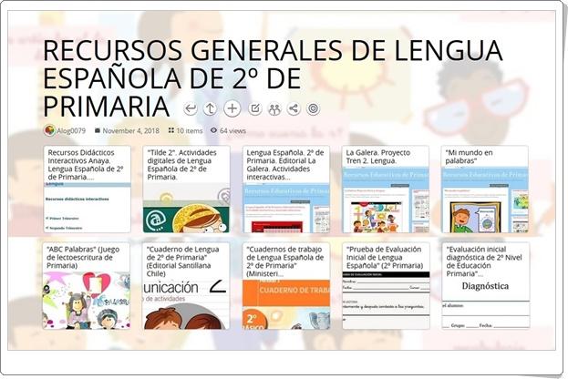 """10 RECURSOS GENERALES DE LENGUA ESPAÑOLA DE 2º DE PRIMARIA"""