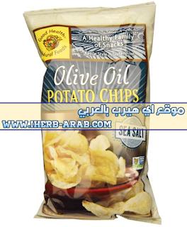 رقائق البطاطا بزيت الزيتون وملح البحر