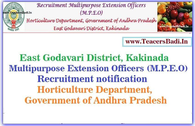 East Godavari,MPEO Posts,Horticulture Department