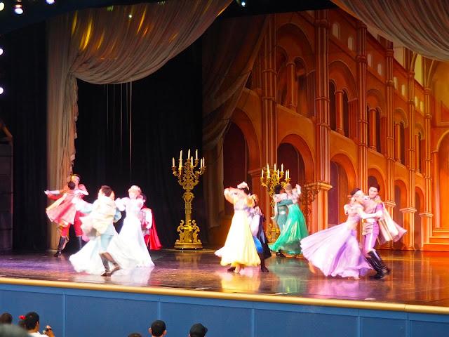 Princes & Princesses dancing in One Man's Dream show, Tokyo Disneyland, Japan