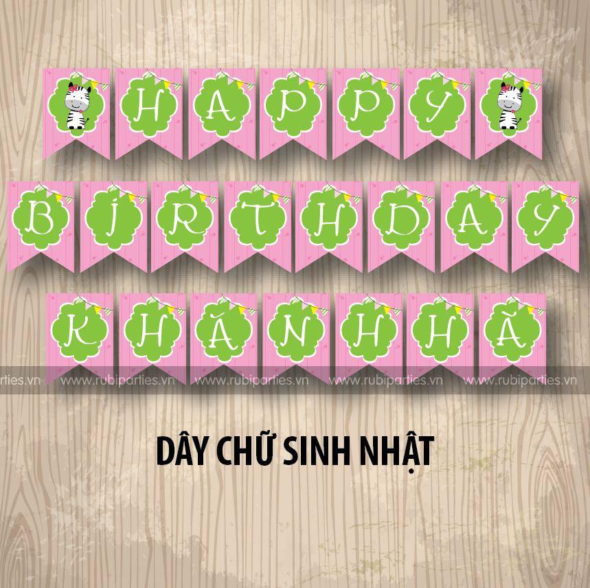 Day chu sinh nhat theo chu de Bo Sua