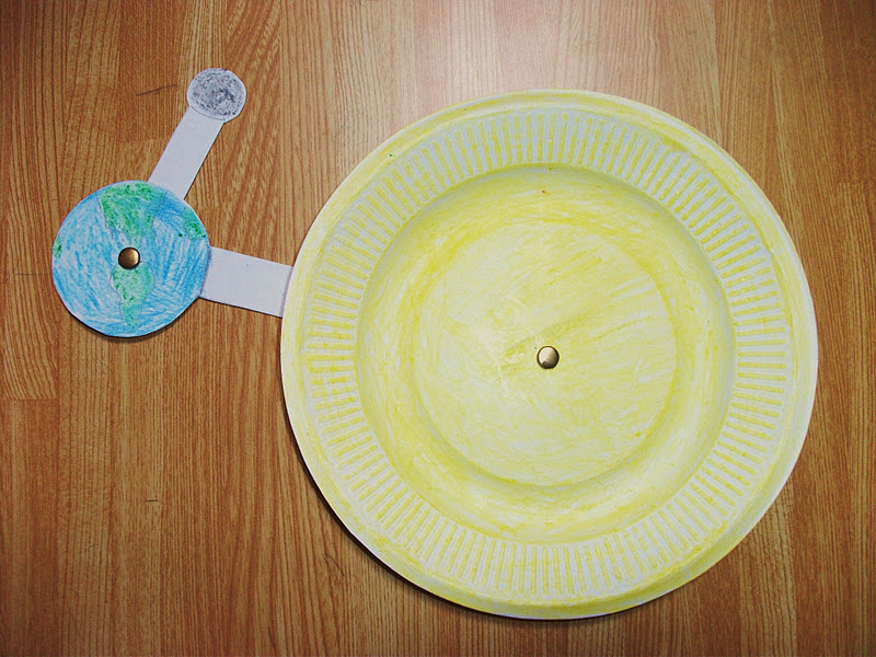 Solar Eclipse Paper Plate Craft