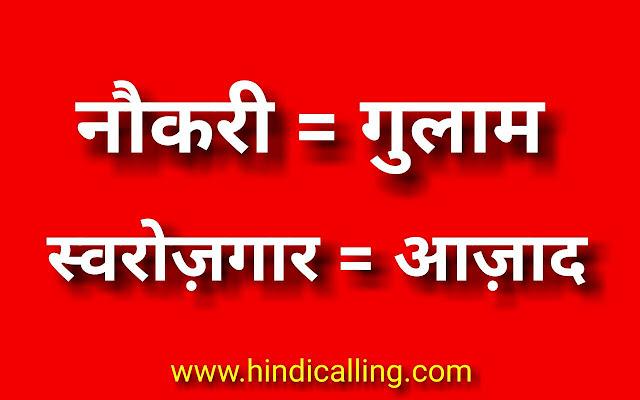 swarozgar matlab azadi naukari matlab azadi swarozgar kyu jaruri hai www.hindicalling.com