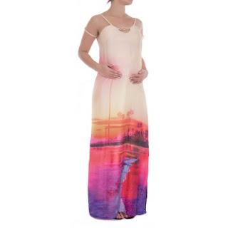 vestido longo grávida reveillon