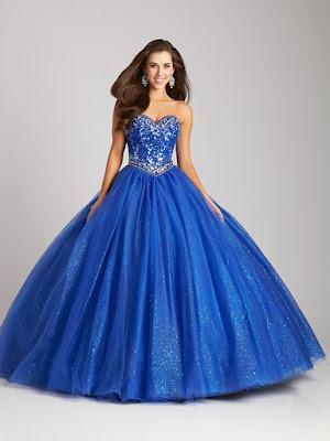 Vestidos de 15 Años Azul Rey