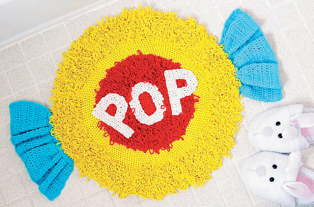Bubble Gum Bath Mat crochet pattern