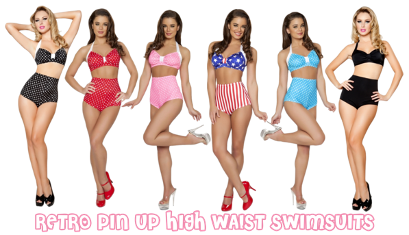 From bow-adorned bikini tops to sweet skirted bottoms, our fab pin-up swimsuits are perfect for any aquatic occasion. Channel your favorite iconic bathing beauties in our pin-up bikinis! Choose from classic cuts, such as halter tops and high-waisted bottoms, for a swimmingly stylish ensemble.