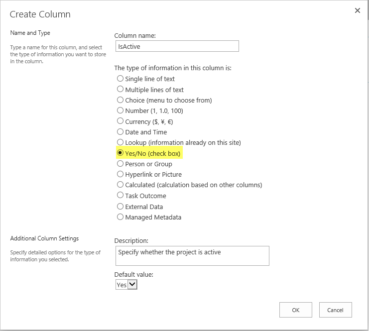 powershell to add yes no checkbox field to list in sharepoint online