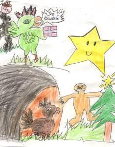 Ilustração de Samara Dias (08 anos).