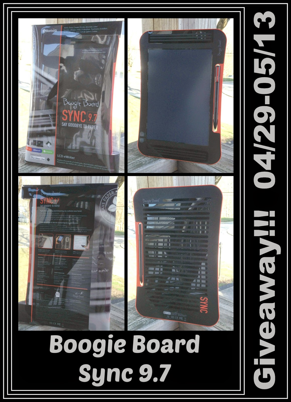 Enter the Boogie Board Sync 9.7 Giveaway. Ends 5/13.