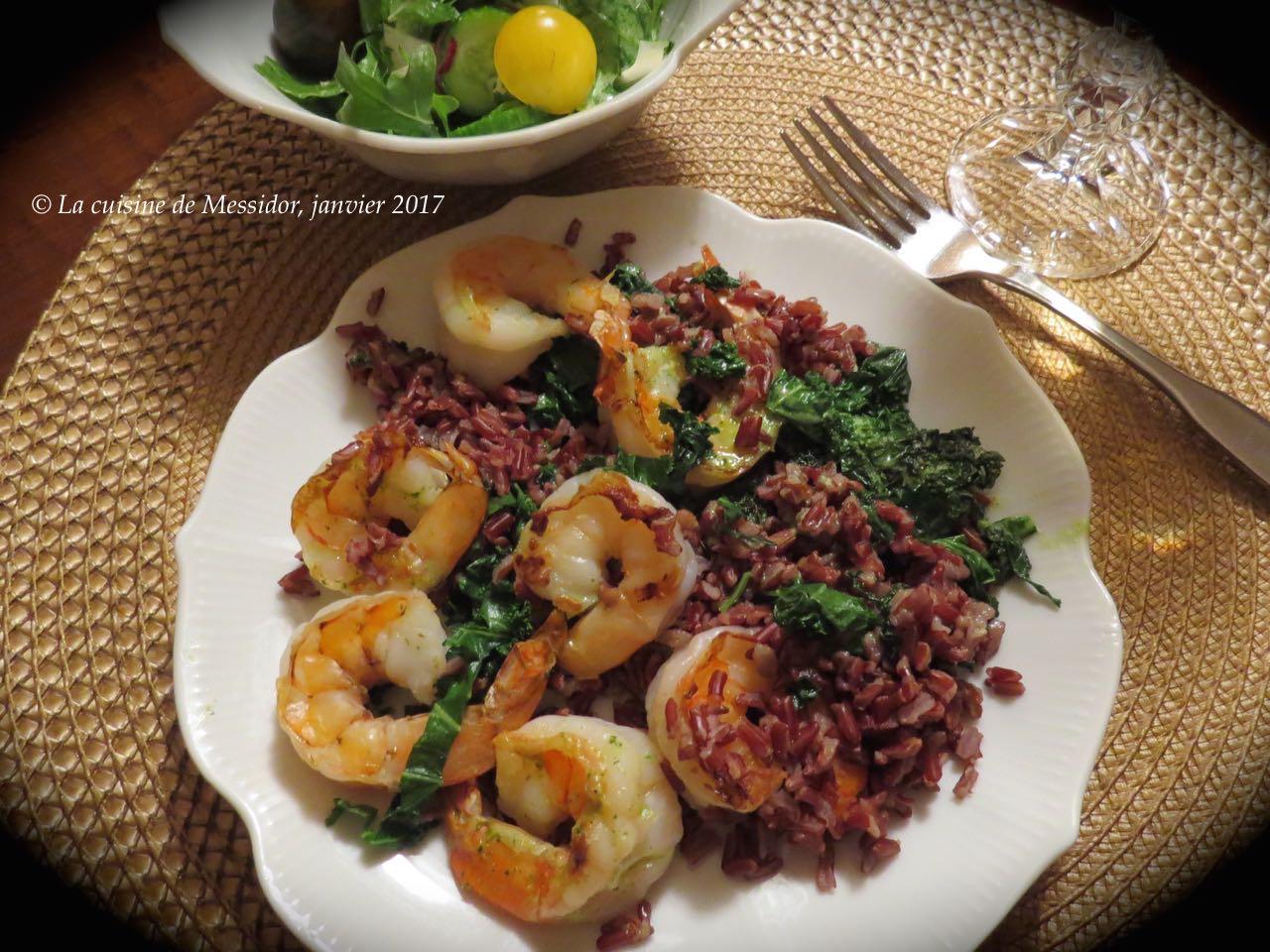 Deco Chambre Union Jack : La cuisine de Messidor Crevettes sur riz rouge, sauce à l'ail et