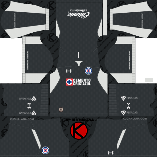 38f00312589 Cruz Azul 2018 19 Kit - Dream League Soccer Kits - Kuchalana