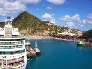 the main town in Sint Maarten