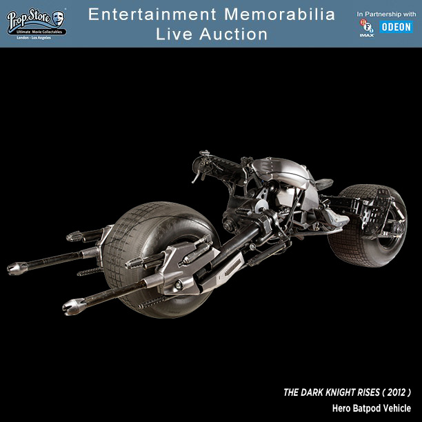 Prop Store Entertainment Memorabilia Live Auction Bat-Pod