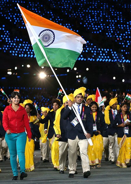 Indian Flag bearers At Olympics KreedOn
