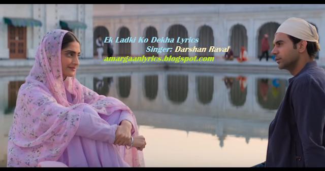 Ek Ladki Ko Dekha Lyrics | Darshan Raval
