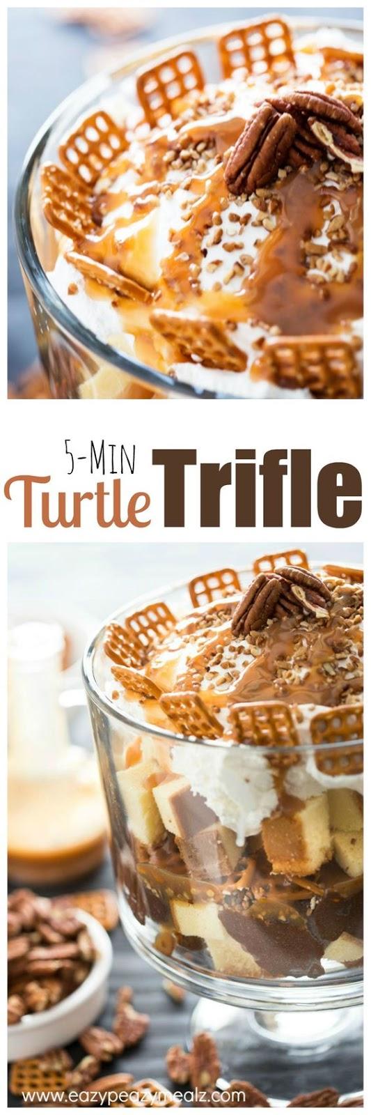 Turtle Pound Cake Trifle
