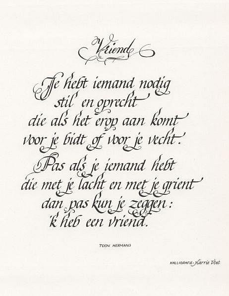 Vaak Een mooi gedicht over 'vriendschap' van Toon Hermans | Blog Ömer @XR76