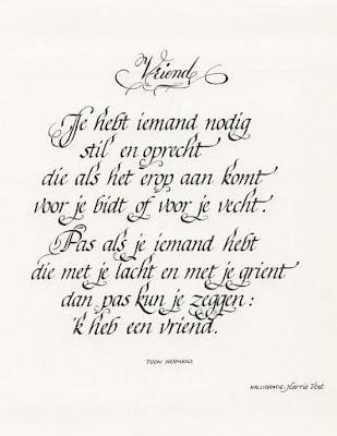 Voorkeur Een mooi gedicht over 'vriendschap' van Toon Hermans | Blog Ömer @ZE17