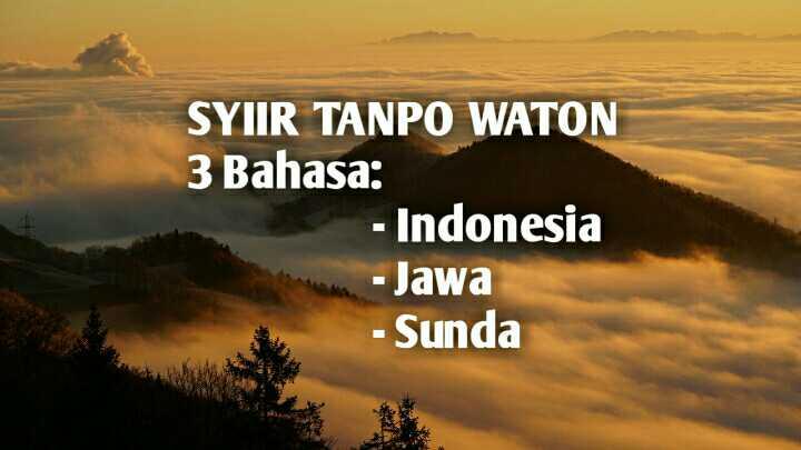 Teks Lirik Lagu Syiir Tanpo Waton Bahasa Sunda, Jawa dengan Artinya (Bahasa Indonesia)